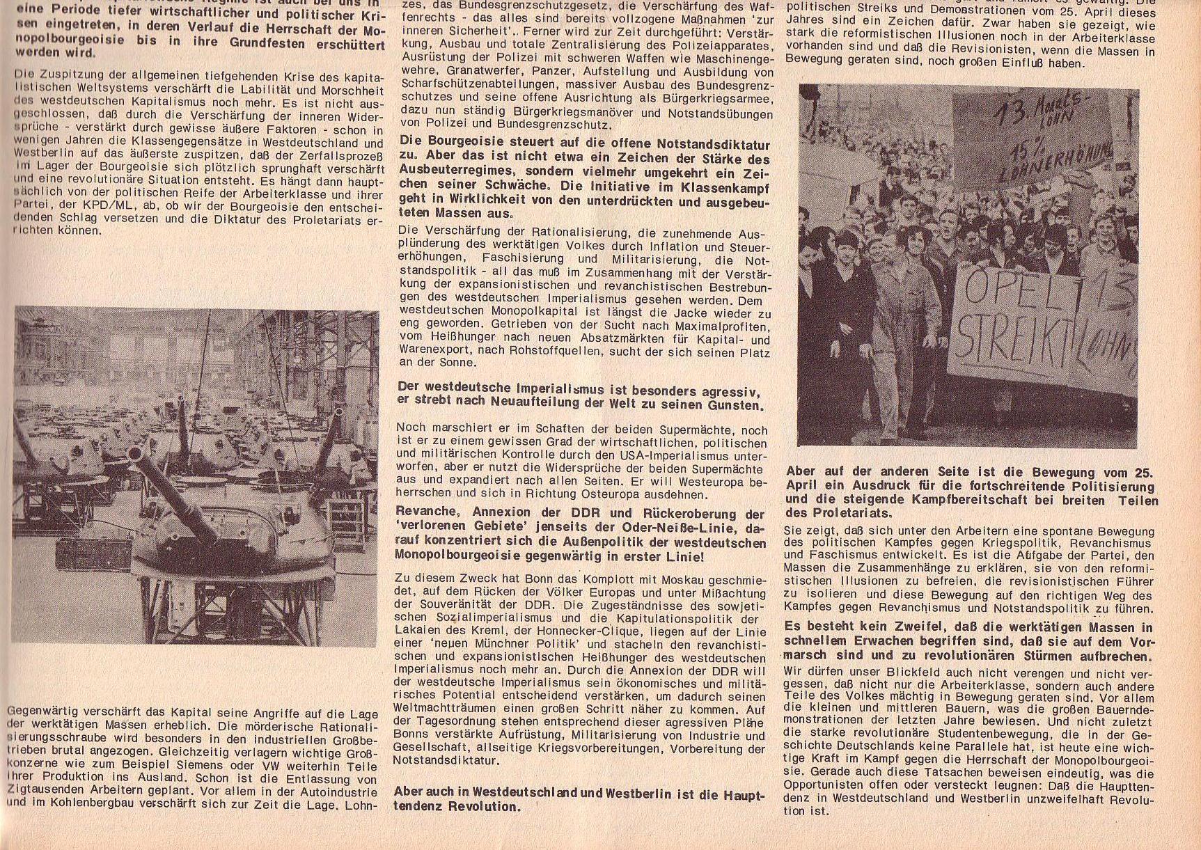 Roter Morgen, 6. Jg., Juli 1972, Sonderbeilage zum II. ordentlichen Parteitag, Seite 5b