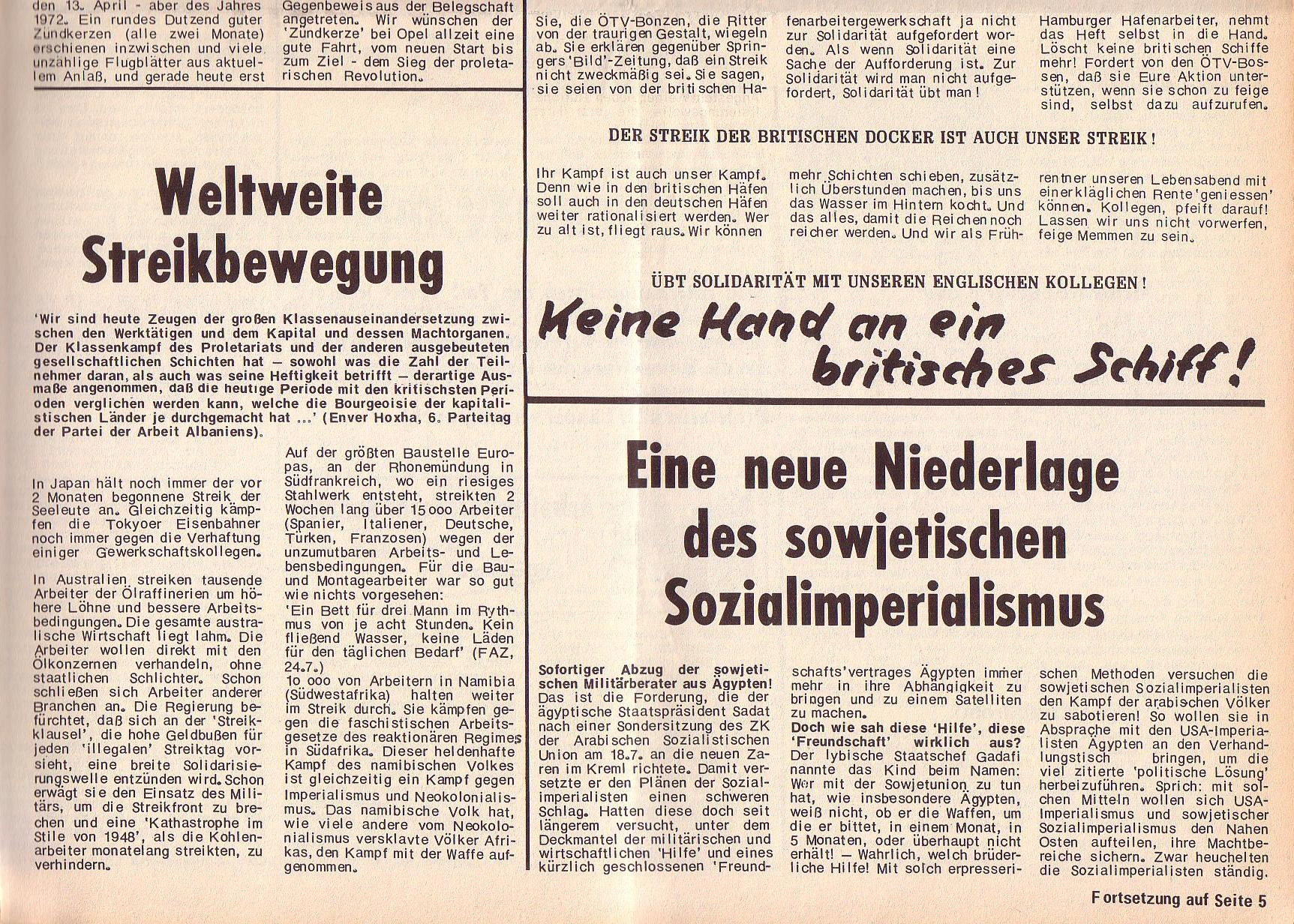 Roter Morgen, 6. Jg., 14. August 1972, Nr. 16, Seite 3b