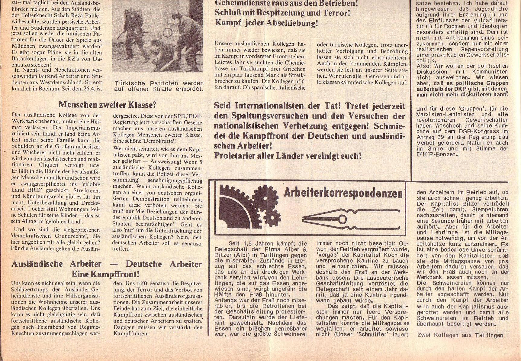 Roter Morgen, 6. Jg., 14. August 1972, Nr. 16, Seite 4b