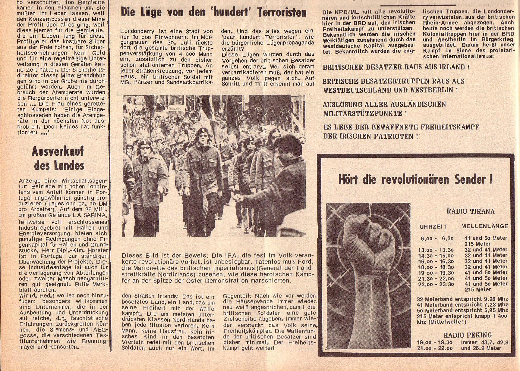 Roter Morgen, 6. Jg., 14. August 1972, Nr. 16, Seite 6b