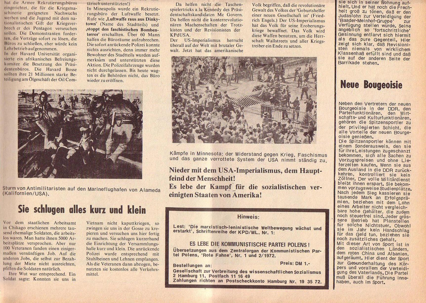 Roter Morgen, 6. Jg., 14. August 1972, Nr. 16, Seite 7b