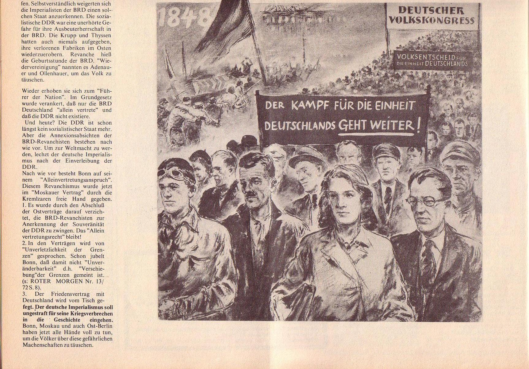 Roter Morgen, 6. Jg., 14. August 1972, Nr. 16, Seite 8b