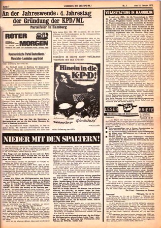 Roter Morgen, 1/1973, S. 7