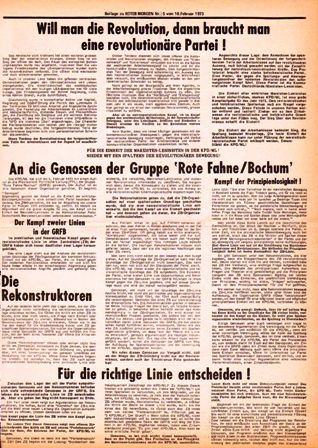 Roter Morgen, 5/1973, Beilage, S. 1