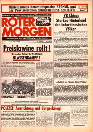 Roter Morgen, 7/1973, S. 1
