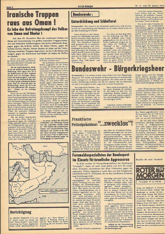 Roter Morgen, 8. Jg., 26. Januar 1974, Nr. 4, Seite 2