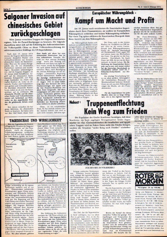 Roter Morgen, 8. Jg., 2. Februar 1974, Nr. 5, Seite 2