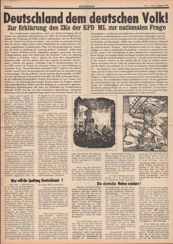 Roter Morgen, 8. Jg., 2. Februar 1974, Nr. 5, Seite 6