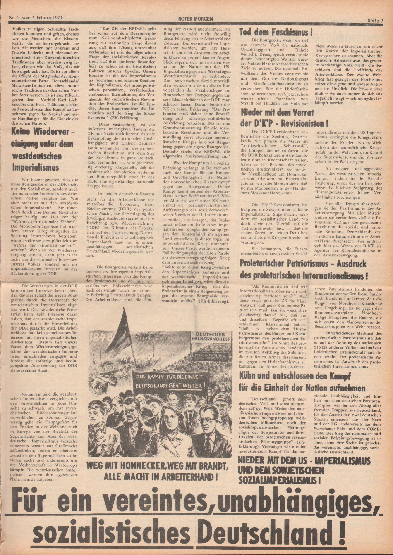 Roter Morgen, 8. Jg., 2. Februar 1974, Nr. 5, Seite 7