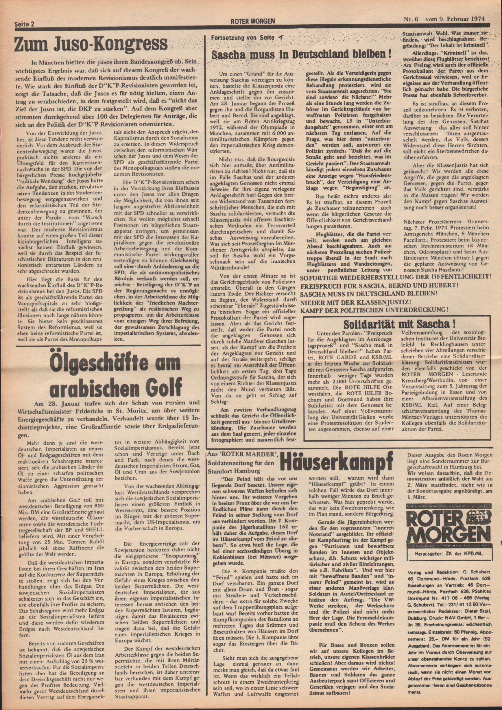 Roter Morgen, 8. Jg., 9. Februar 1974, Nr. 6, Seite 2
