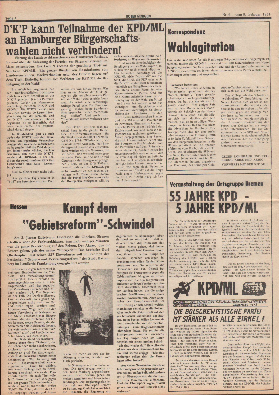 Roter Morgen, 8. Jg., 9. Februar 1974, Nr. 6, Seite 4