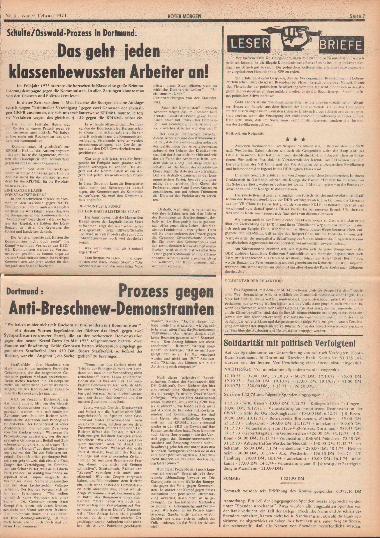 Roter Morgen, 8. Jg., 9. Februar 1974, Nr. 6, Seite 7