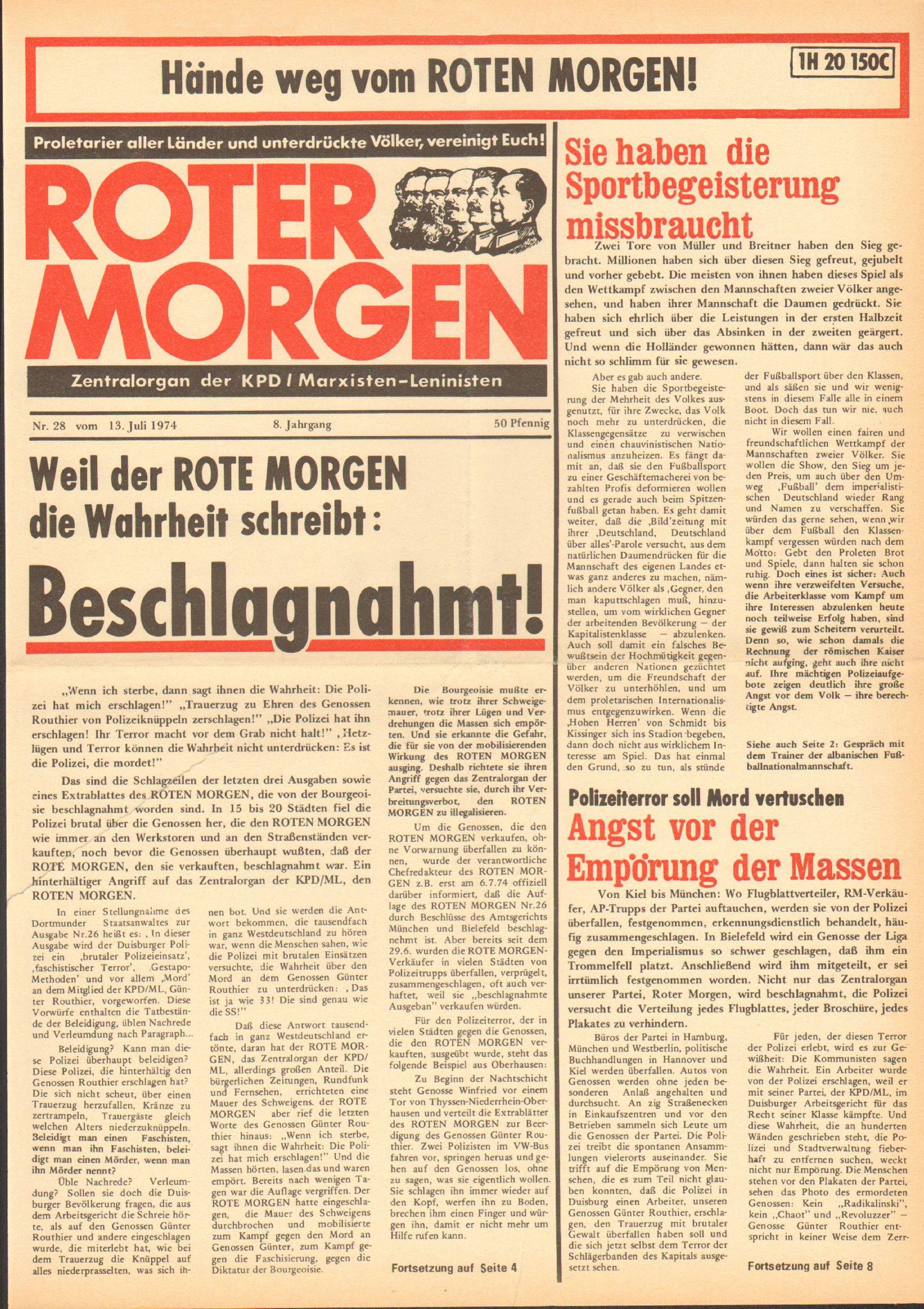 RM 28/1974, S. 1
