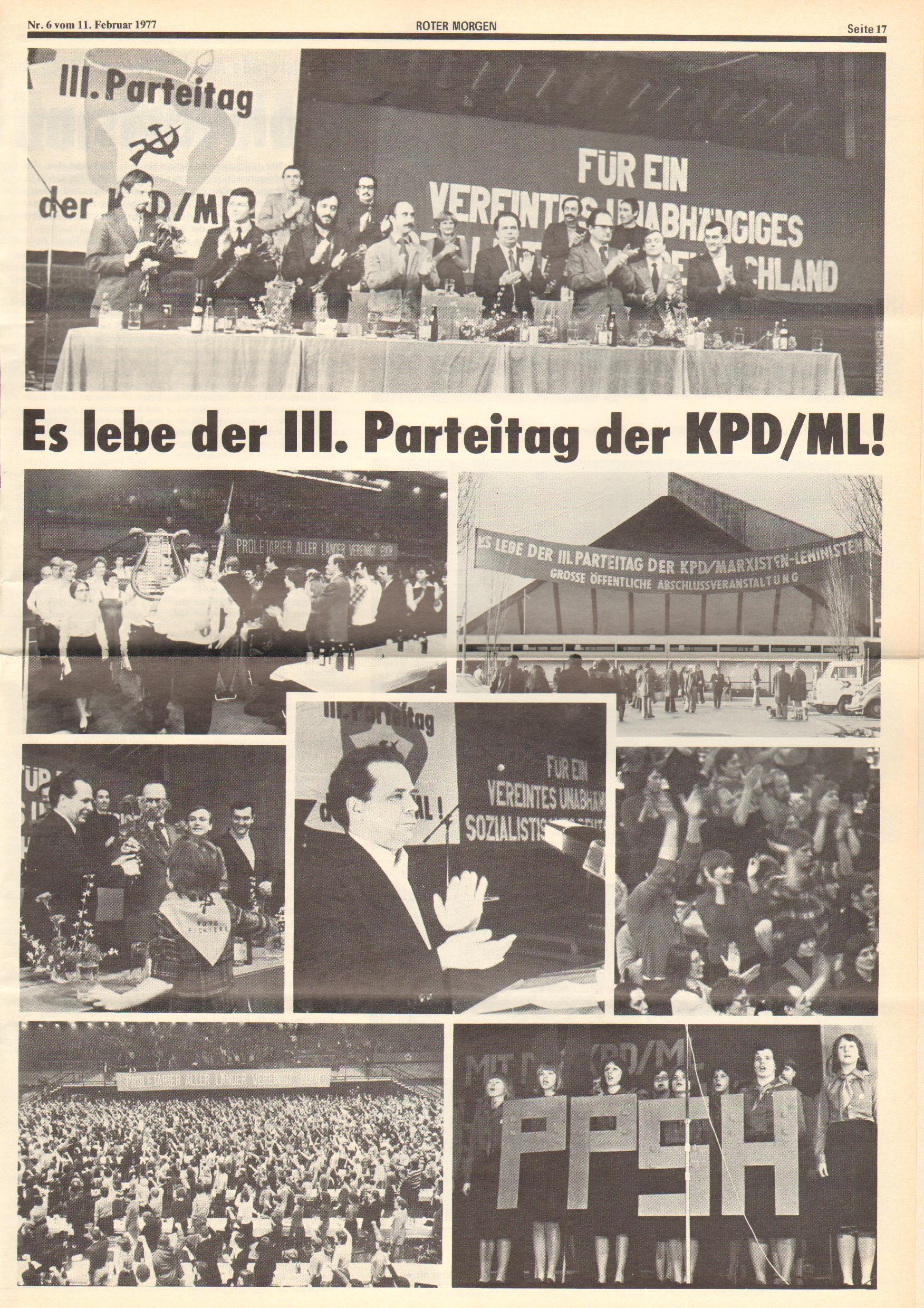 Roter Morgen, 11. Jg., 11. Februar 1977, Nr. 6, Seite 17