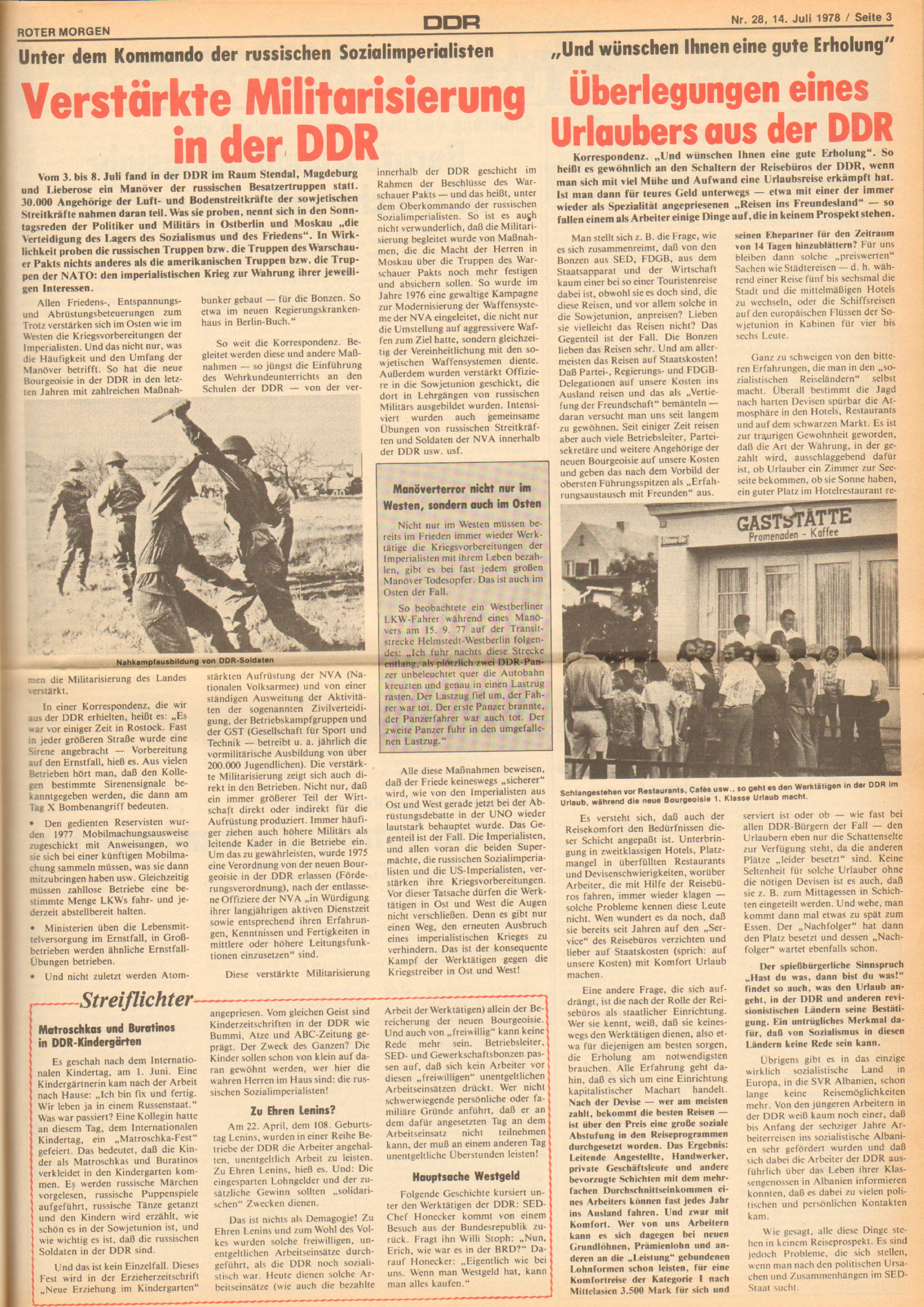 Roter Morgen, 12. Jg., 16. Juli 1978, Nr. 28, Seite 3