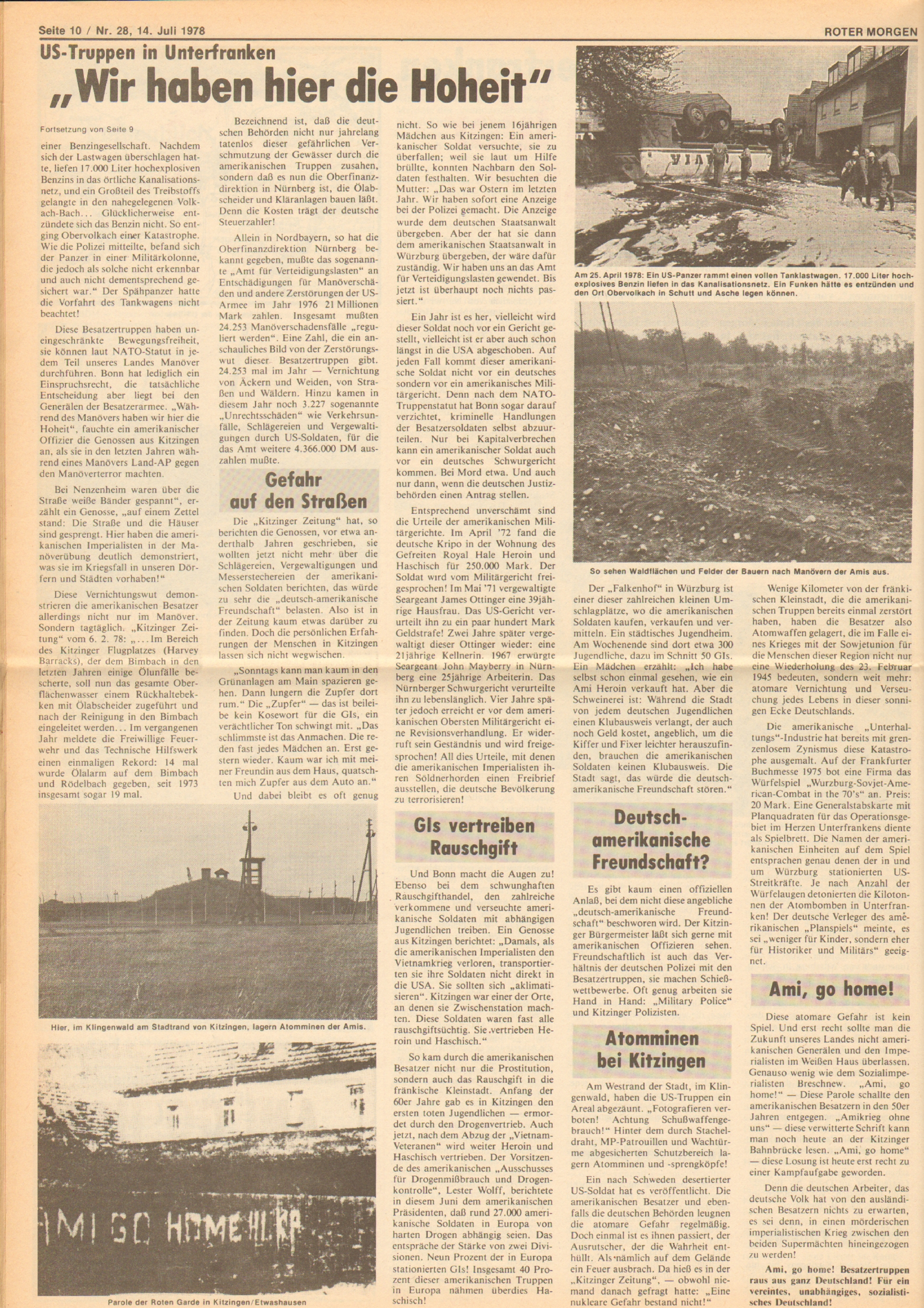 Roter Morgen, 12. Jg., 16. Juli 1978, Nr. 28, Seite 10