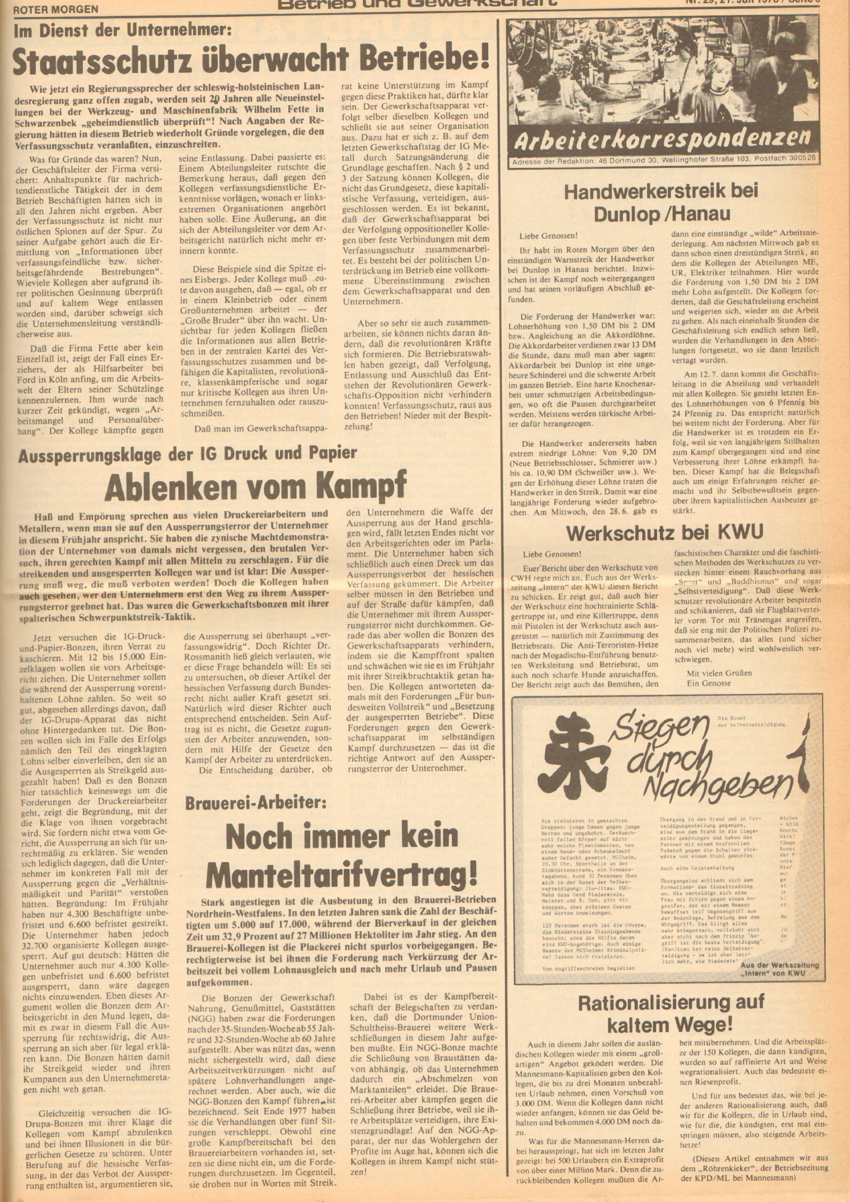 Roter Morgen, 12. Jg., 21. Juli 1978, Nr. 29, Seite 5