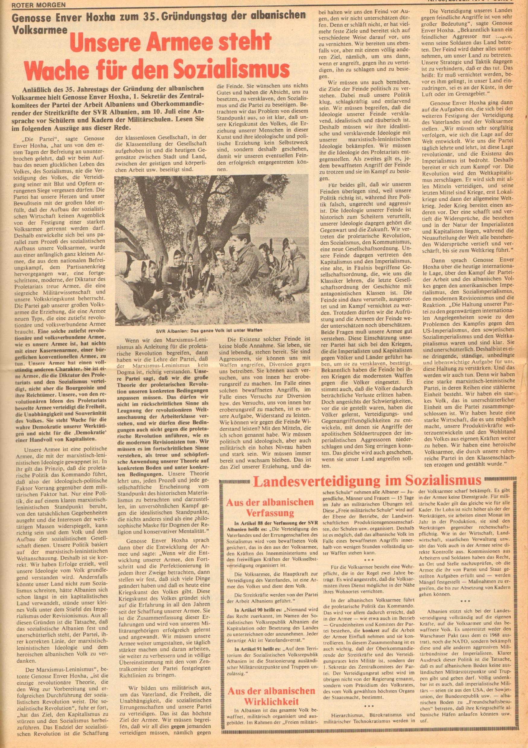 Roter Morgen, 12. Jg., 28. Juli 1978, Nr. 30, Seite 9