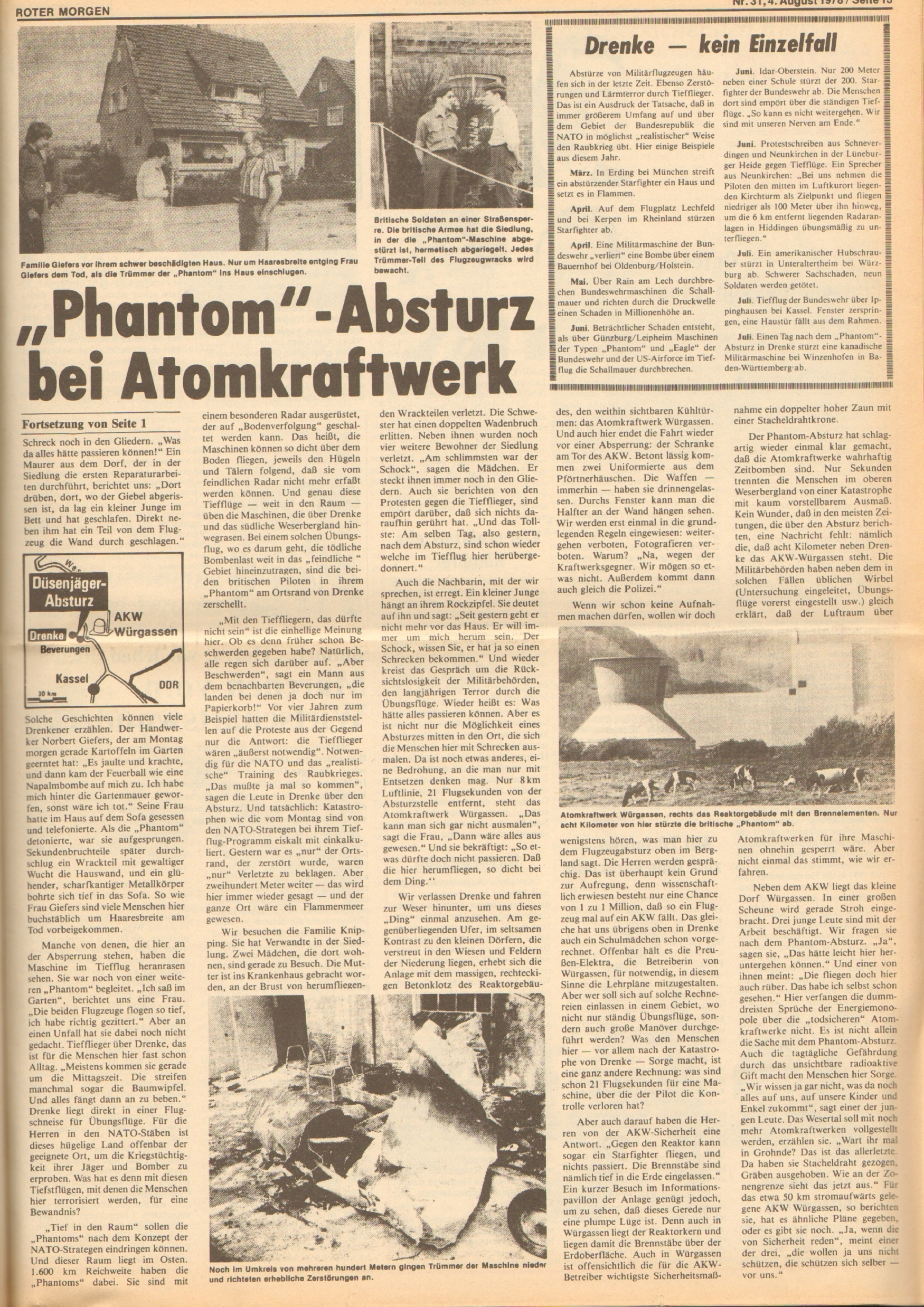 Roter Morgen, 12. Jg., 4. August 1978, Nr. 31, Seite 13