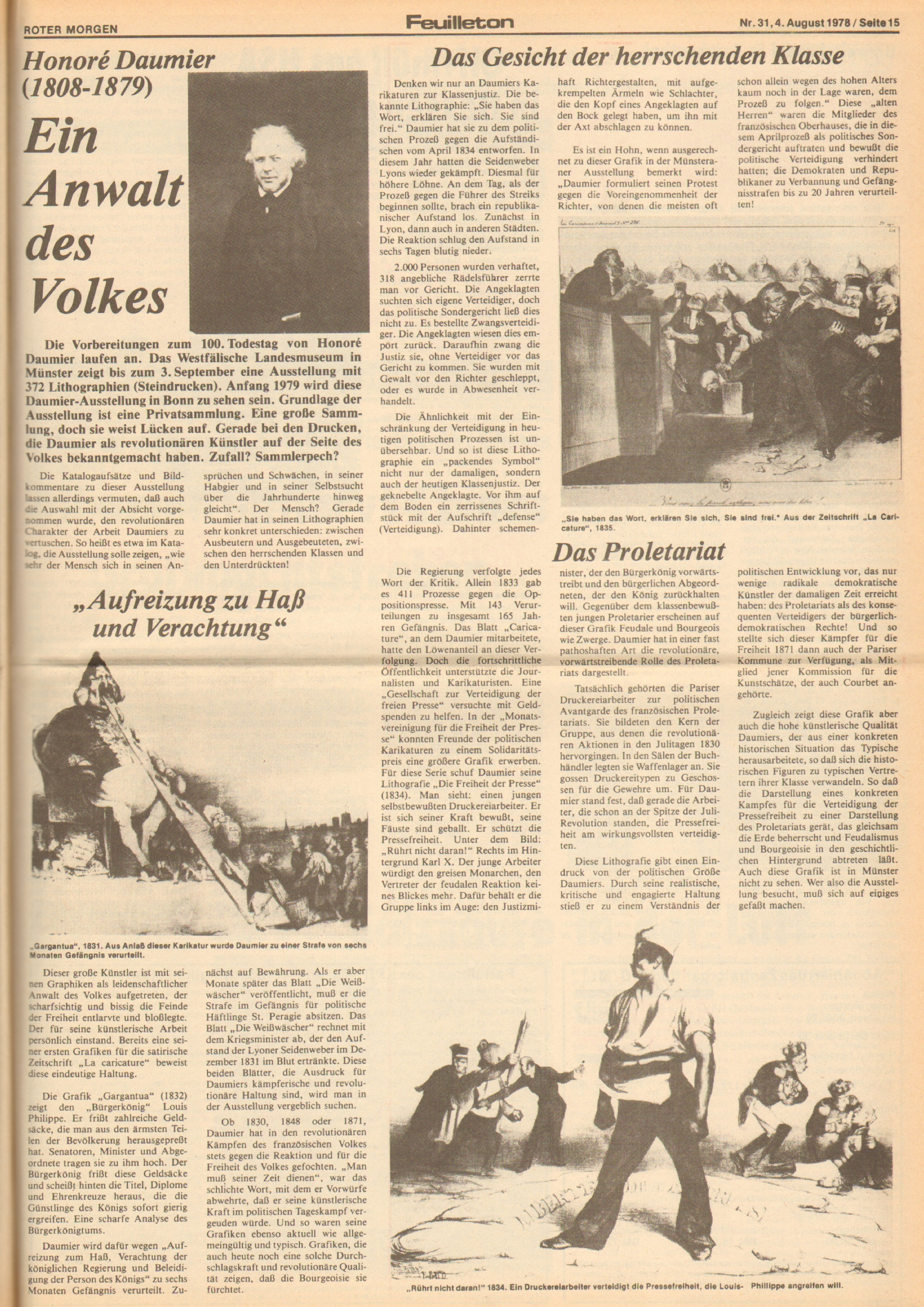 Roter Morgen, 12. Jg., 4. August 1978, Nr. 31, Seite 15