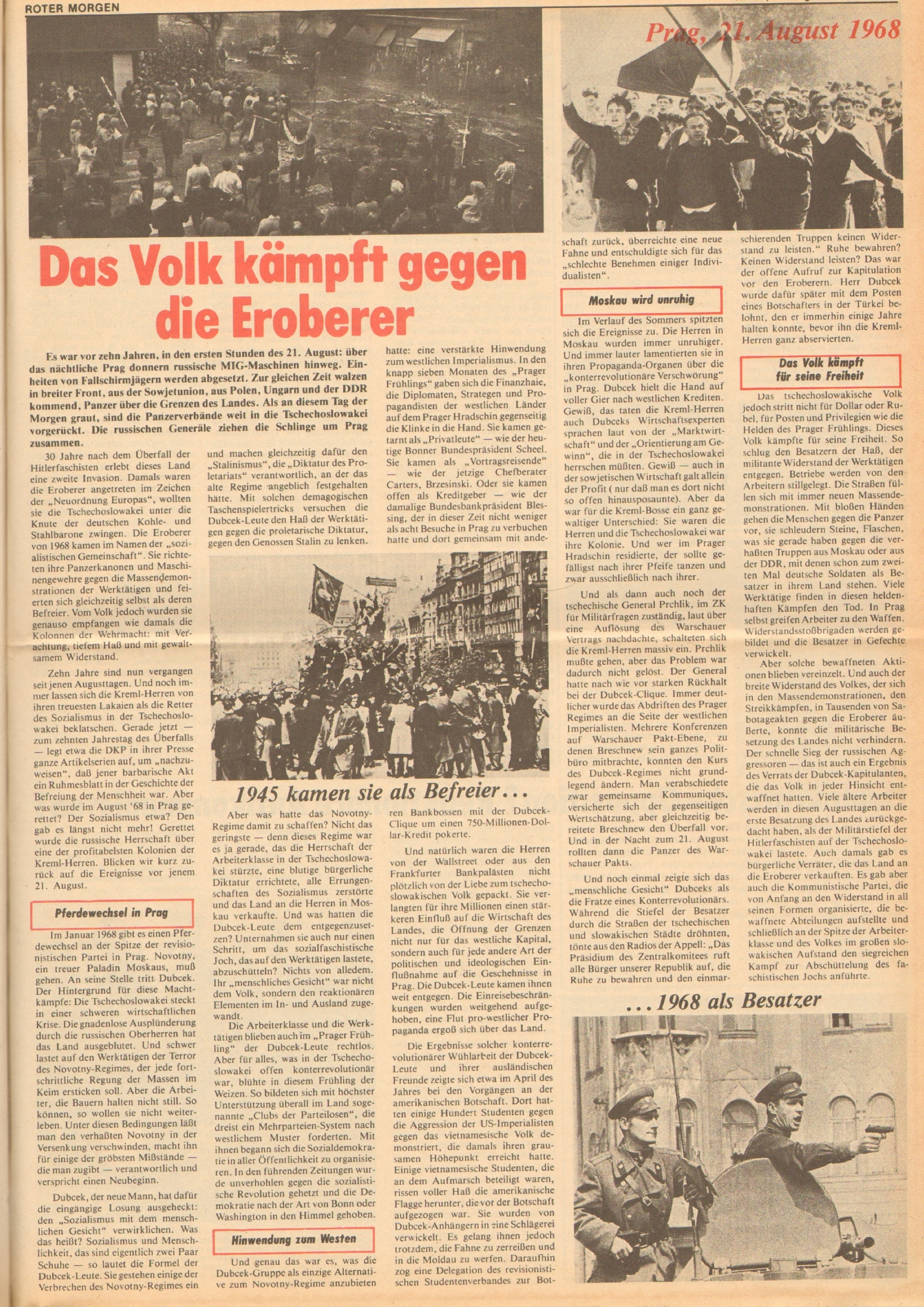 Roter Morgen, 12. Jg., 18. August 1978, Nr. 33, Seite 9