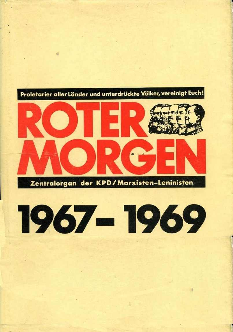 Roter Morgen 1967_1969, Titelseite