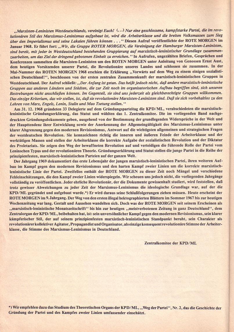 Roter Morgen 1967_1969, Vorwort, Seite 2