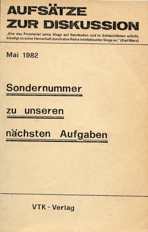 AzD_1982_Sondernummer_naechste_Aufgaben