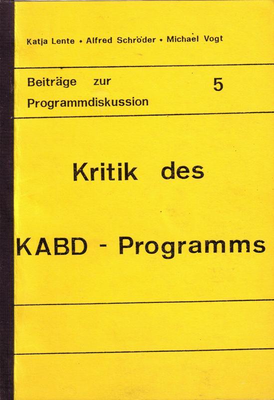 Lente_Schroeder_Vogt_Kritik_KABD_Programm