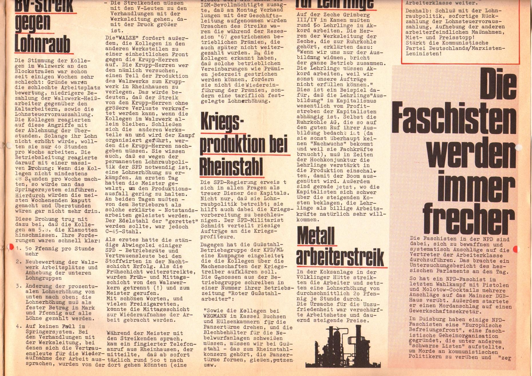 Rote Fahne, 1. Jg., 26. August 1970, Seite 5 unten