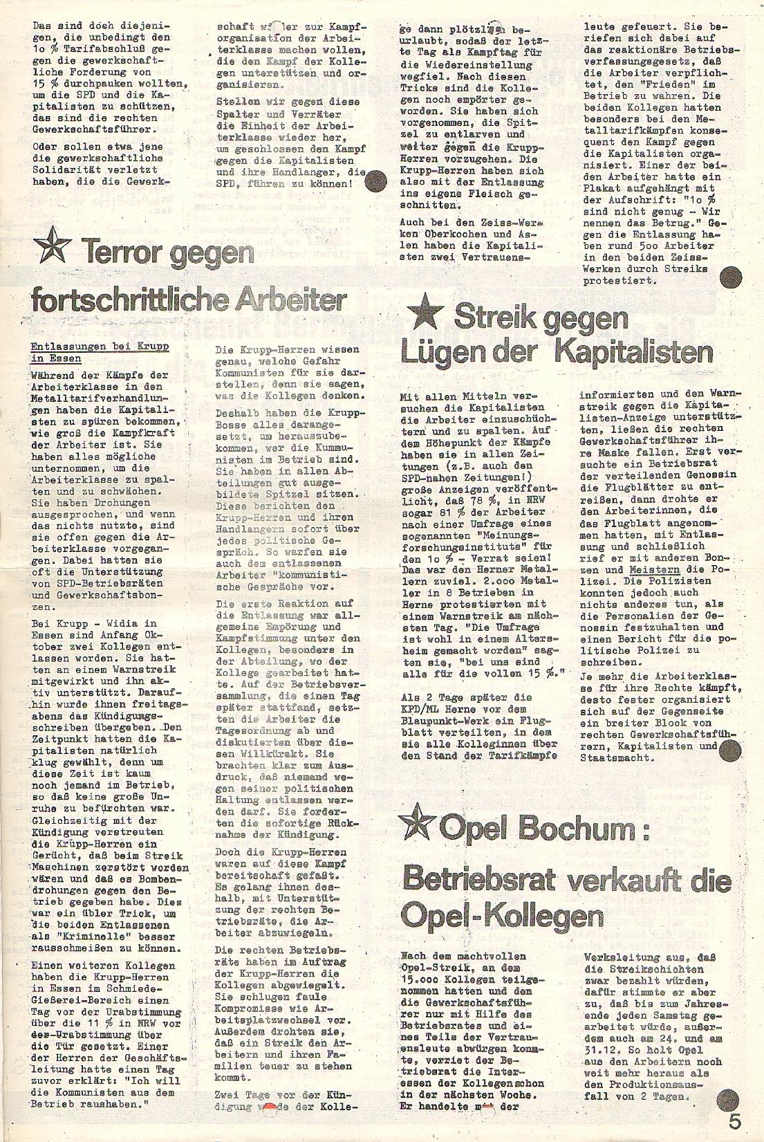 Rote Fahne, 1. Jg., 23.11.1970, Nr. 4, Seite 5