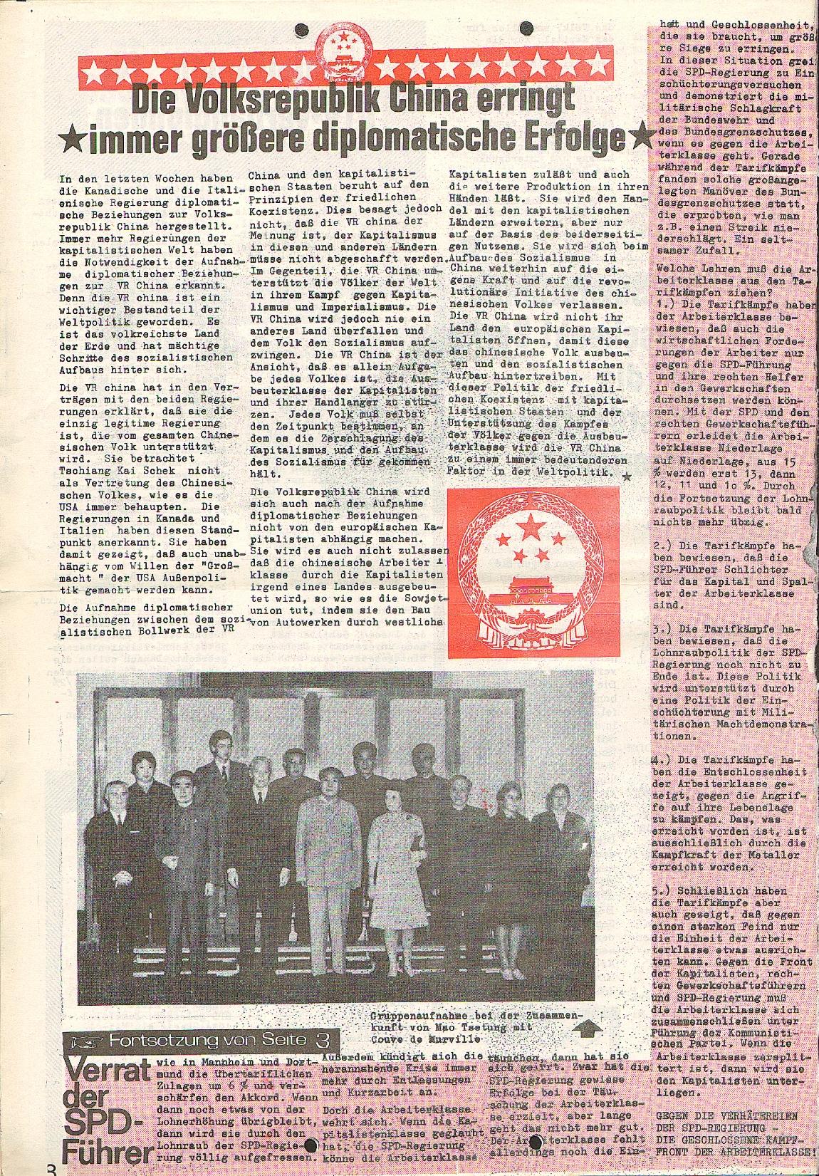 Rote Fahne, 1. Jg., 23.11.1970, Nr. 4, Seite 8