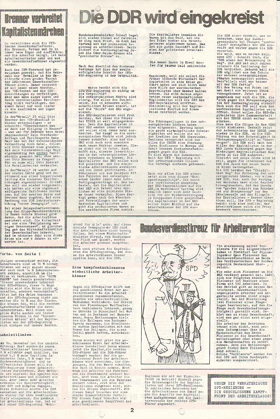 Rote Fahne, 1. Jg., 7.12.1970, Nr. 5, Seite 2