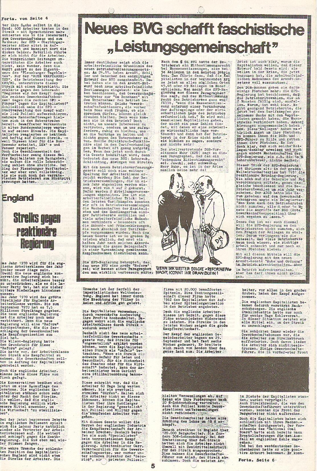 Rote Fahne, 1. Jg., 7.12.1970, Nr. 5, Seite 5