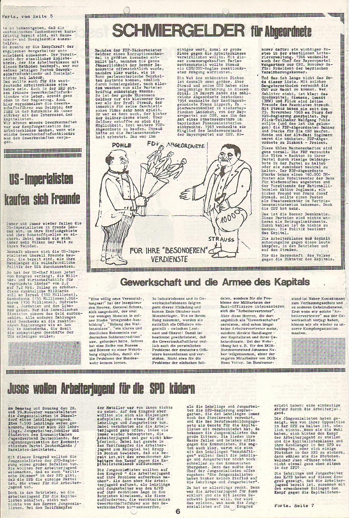 Rote Fahne, 1. Jg., 7.12.1970, Nr. 5, Seite 6