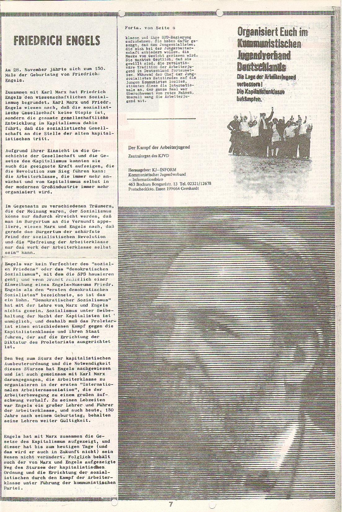 Rote Fahne, 1. Jg., 7.12.1970, Nr. 5, Seite 7