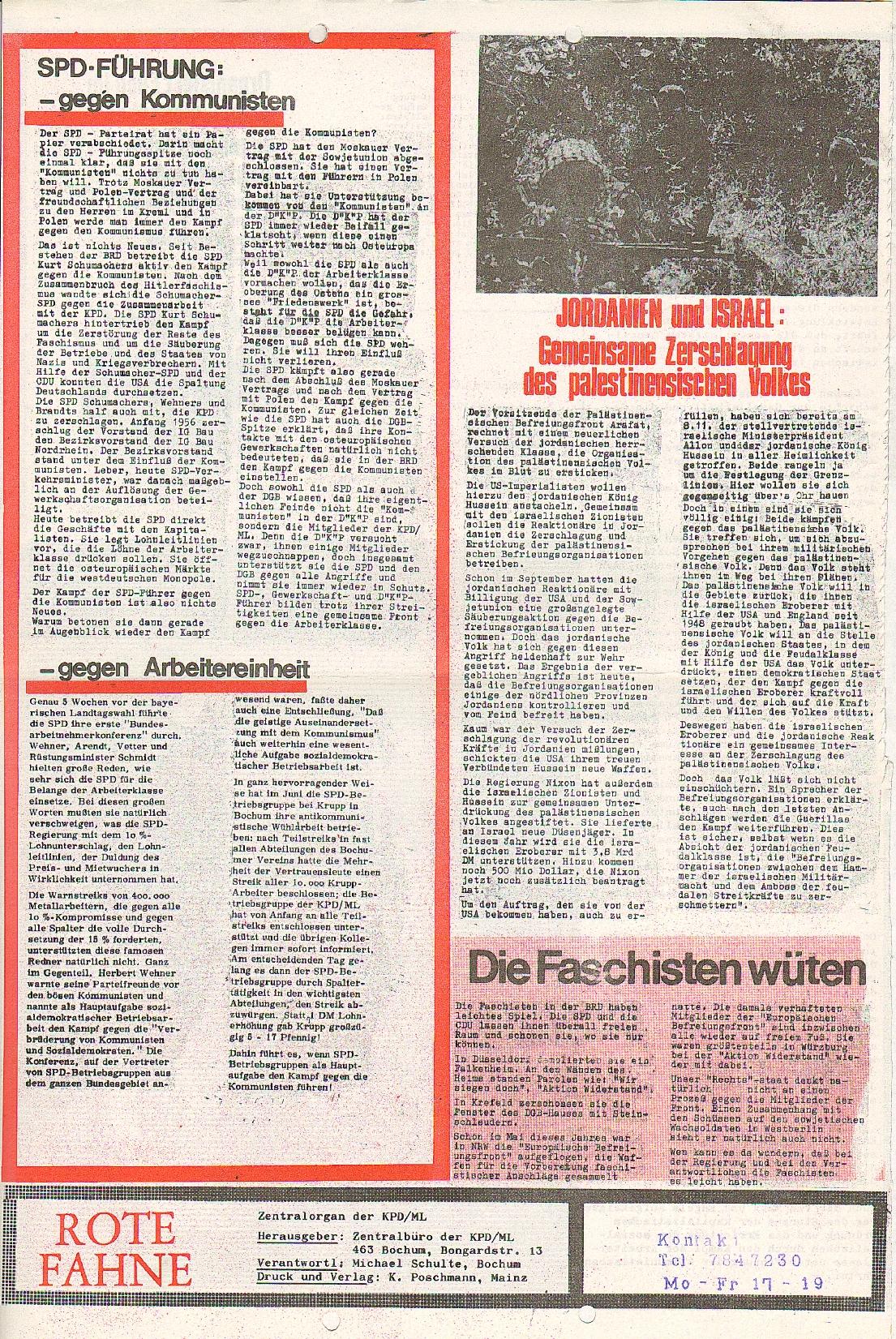 Rote Fahne, 1. Jg., 7.12.1970, Nr. 5, Seite 8