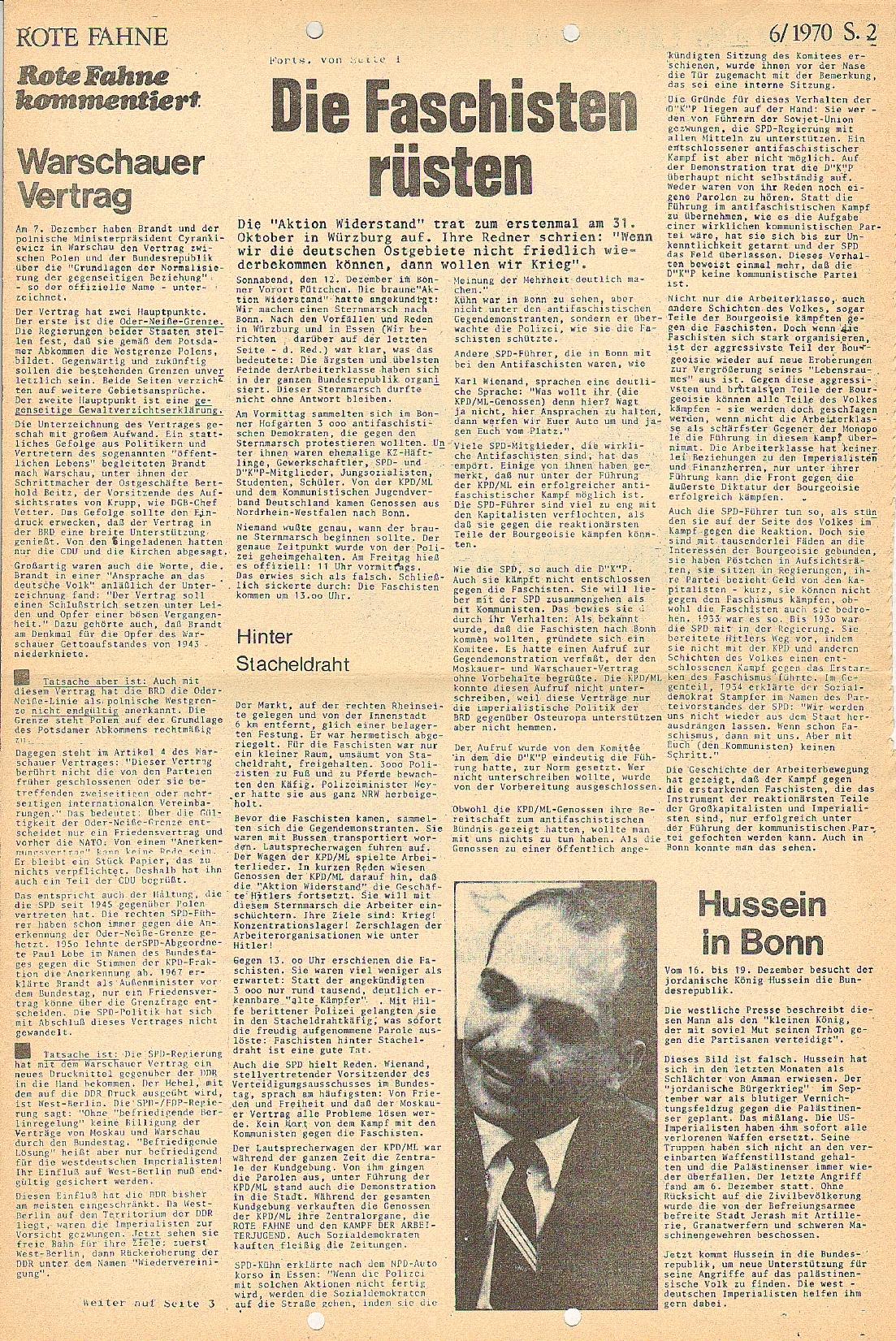 Rote Fahne, 1. Jg., 21.12.1970, Nr. 6, Seite 2