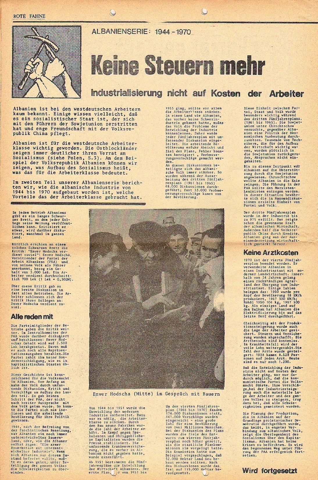 Rote Fahne, 2. Jg., 18.1.1971, Nr. 1, Seite 6