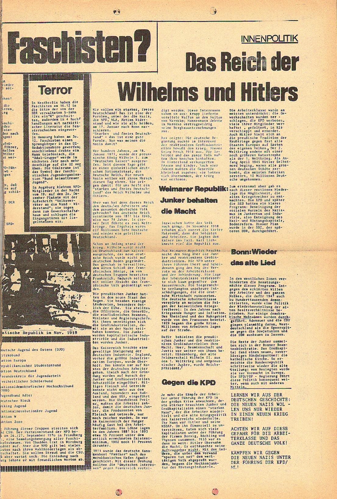 Rote Fahne, 2. Jg., Januar 1971, Extrablatt, Seite 3