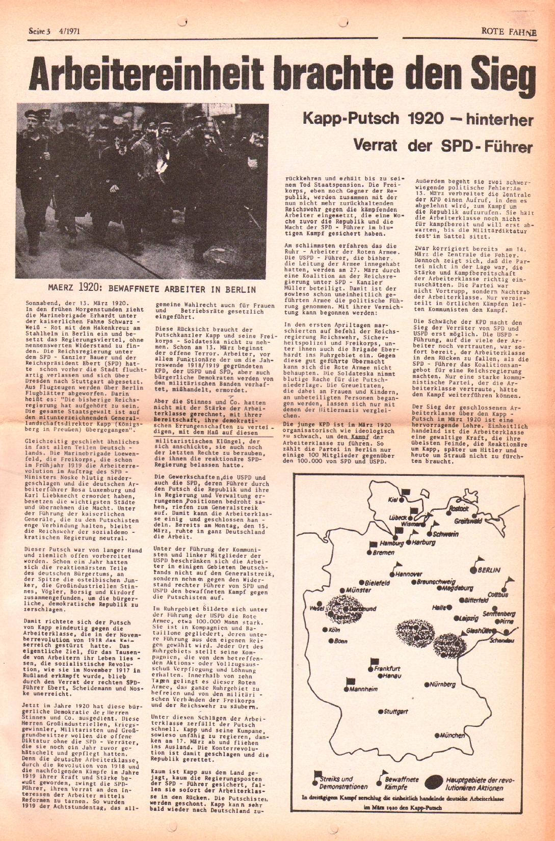 Rote Fahne, 2. Jg., 1.3.1971, Nr. 4, Seite 3