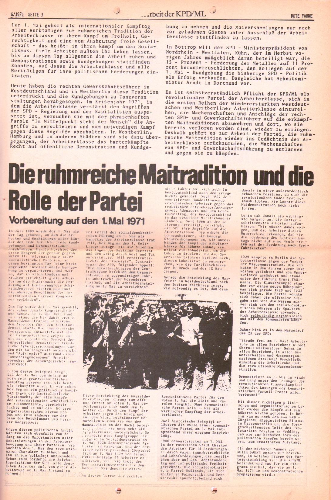 Rote Fahne, 2. Jg., 29.3.1971, Nr. 6, Seite 3