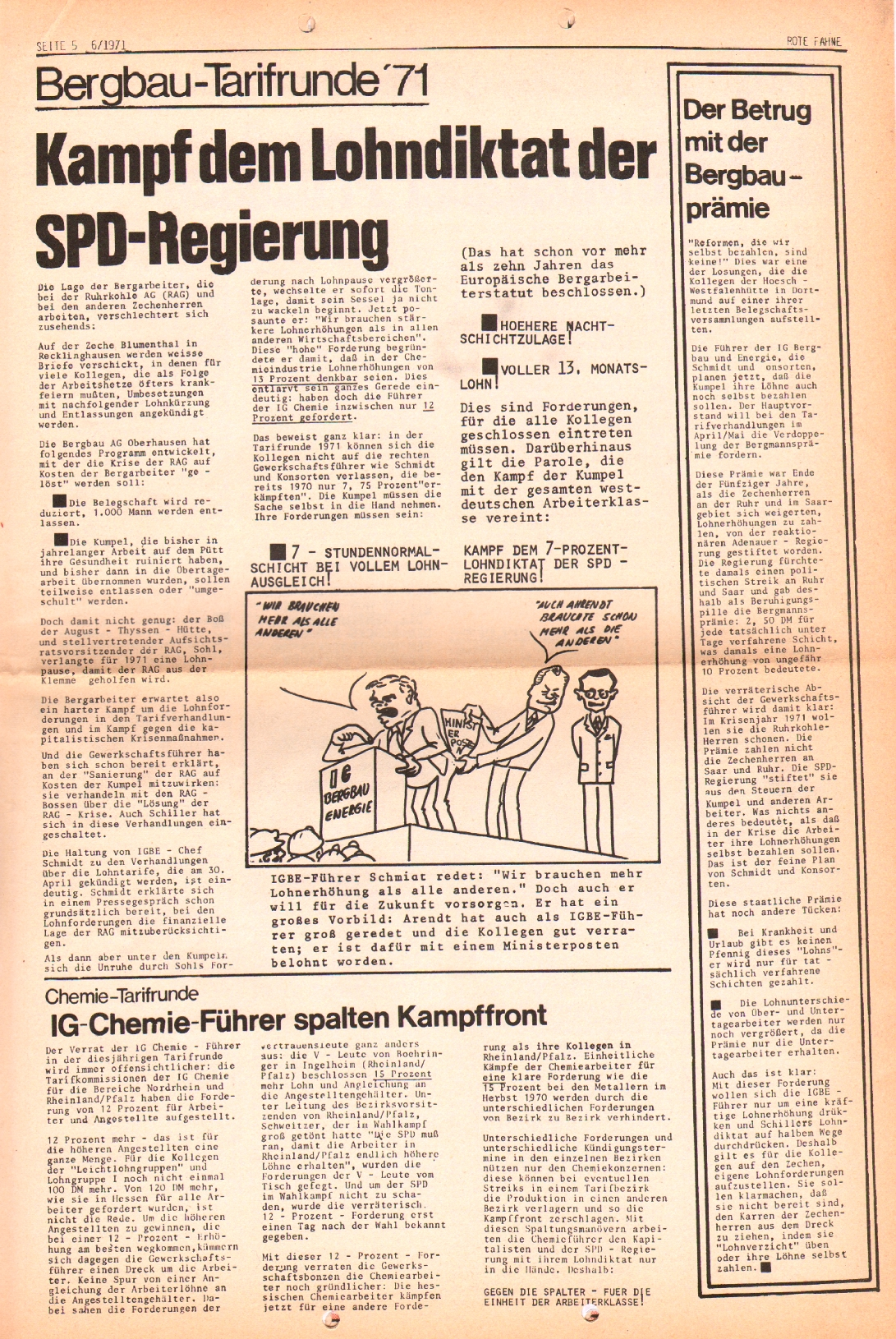 Rote Fahne, 2. Jg., 29.3.1971, Nr. 6, Seite 5