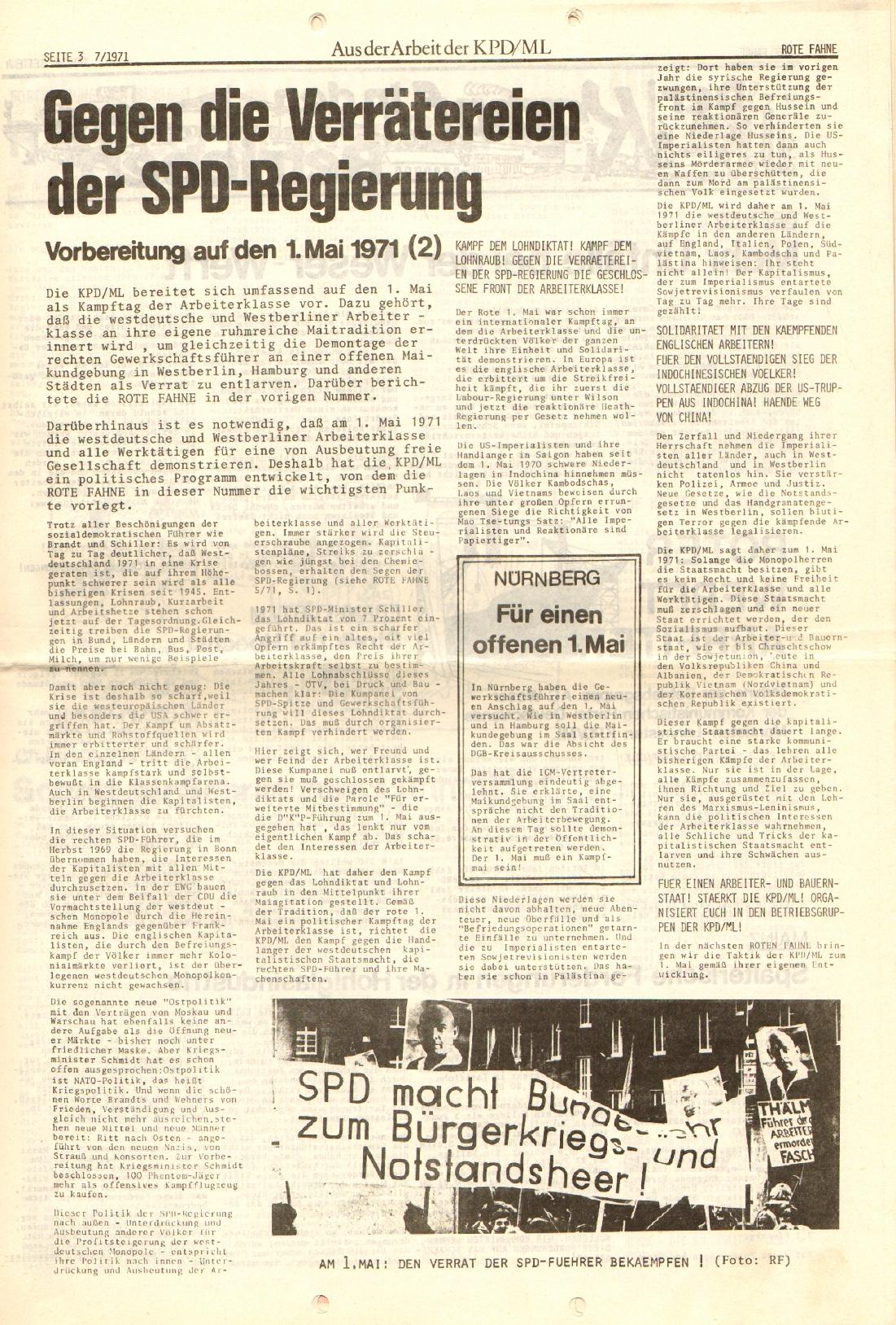 Rote Fahne, 2. Jg., 12.4.1971, Nr. 7, Seite 3