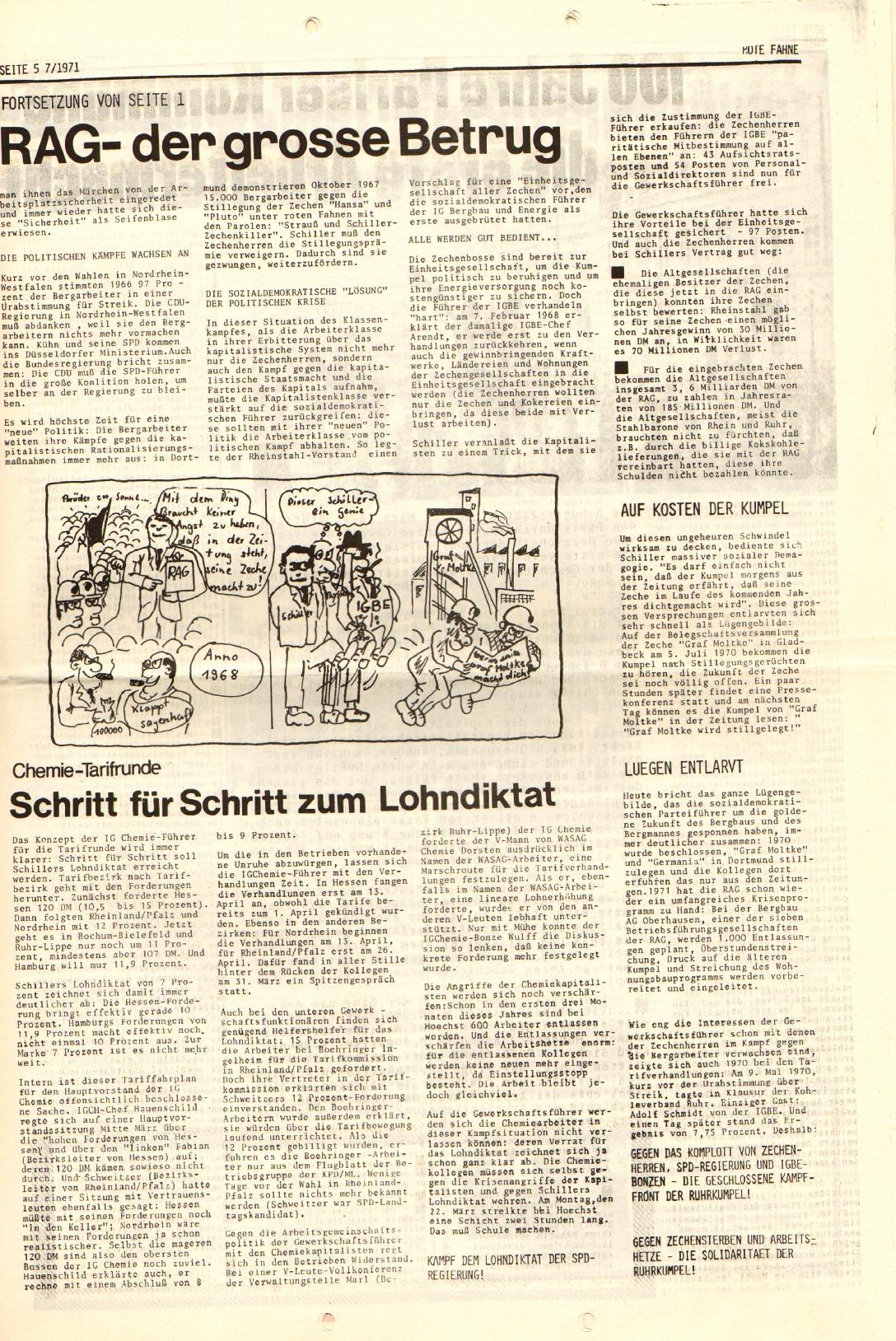 Rote Fahne, 2. Jg., 12.4.1971, Nr. 7, Seite 5