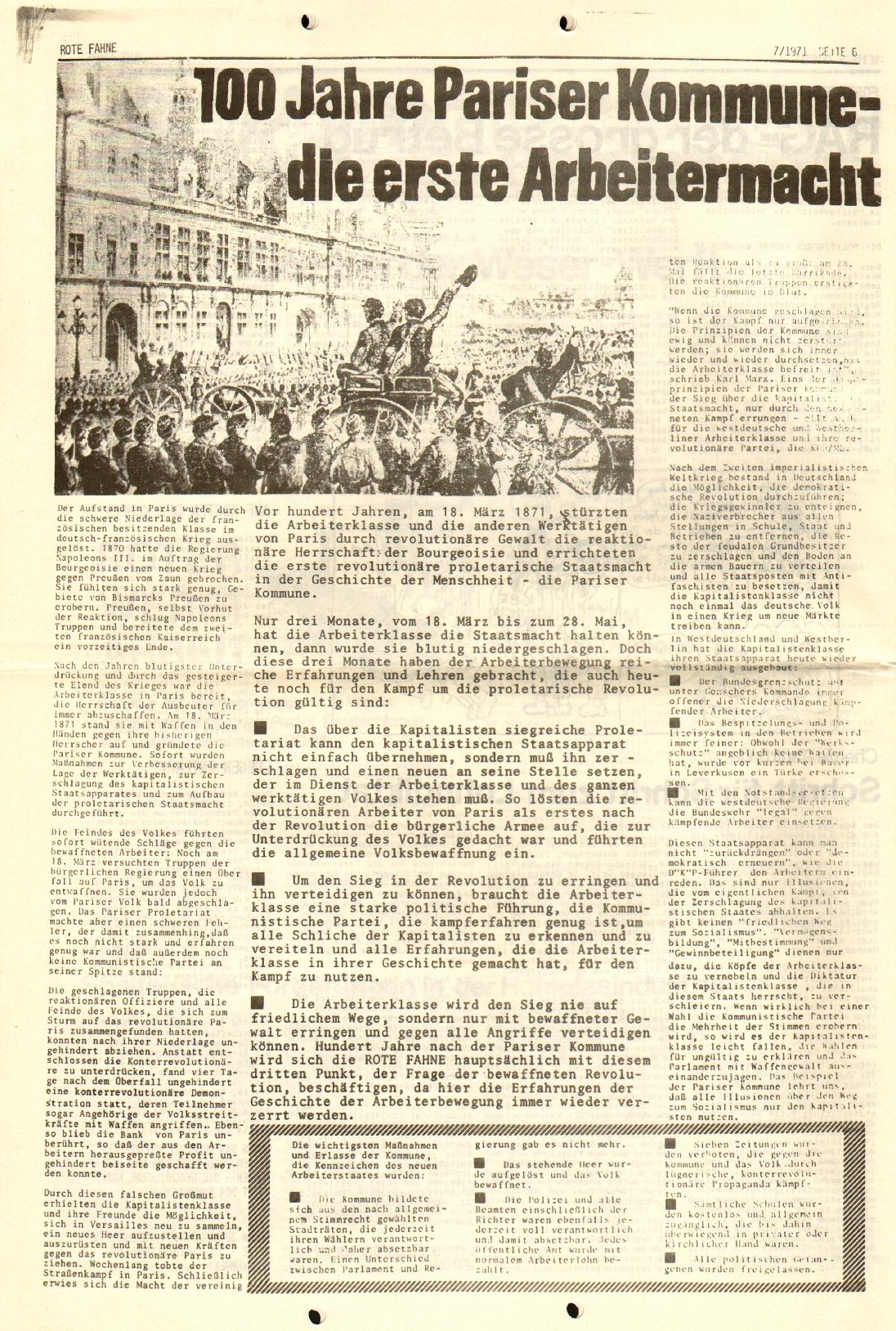 Rote Fahne, 2. Jg., 12.4.1971, Nr. 7, Seite 6