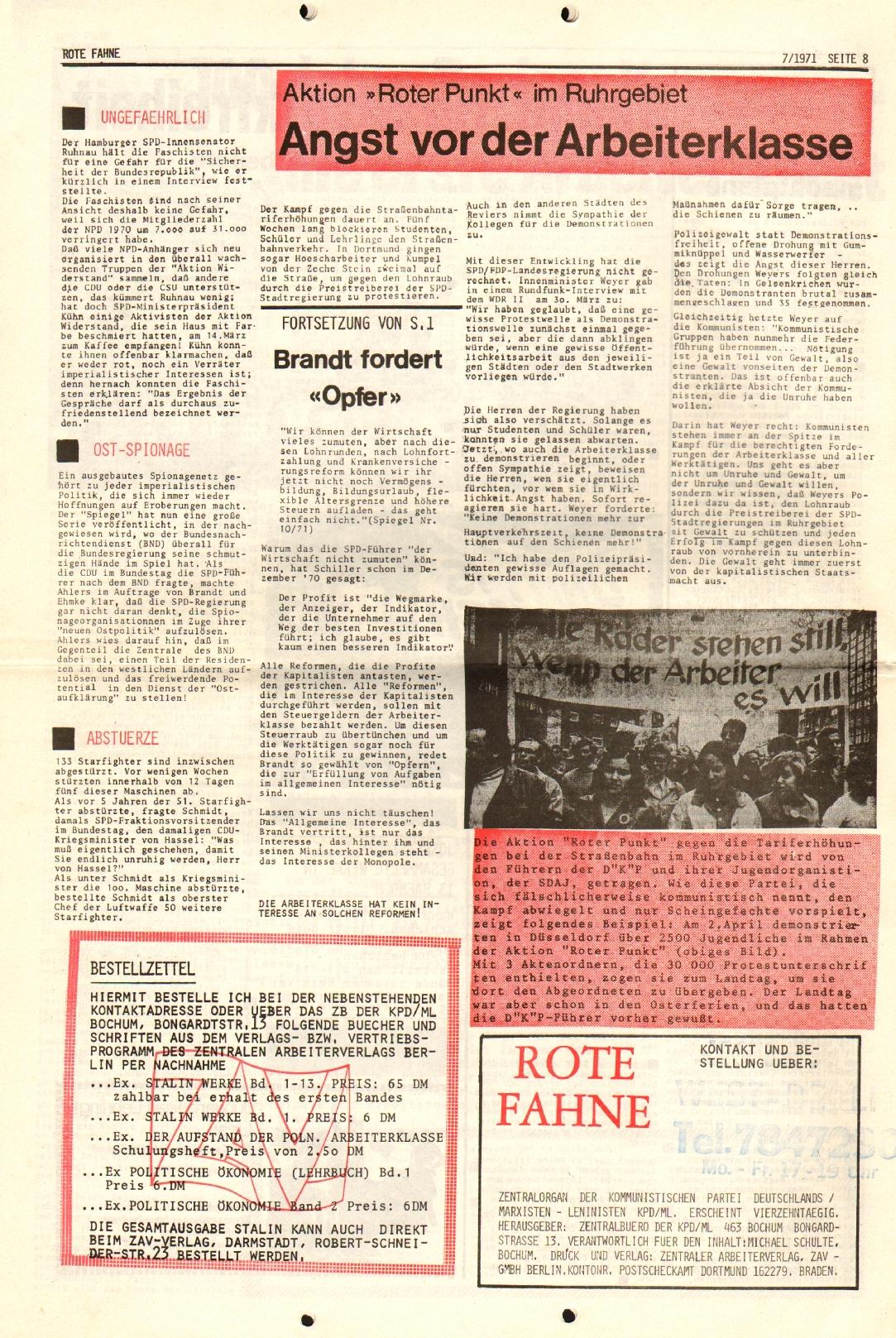 Rote Fahne, 2. Jg., 12.4.1971, Nr. 7, Seite 7