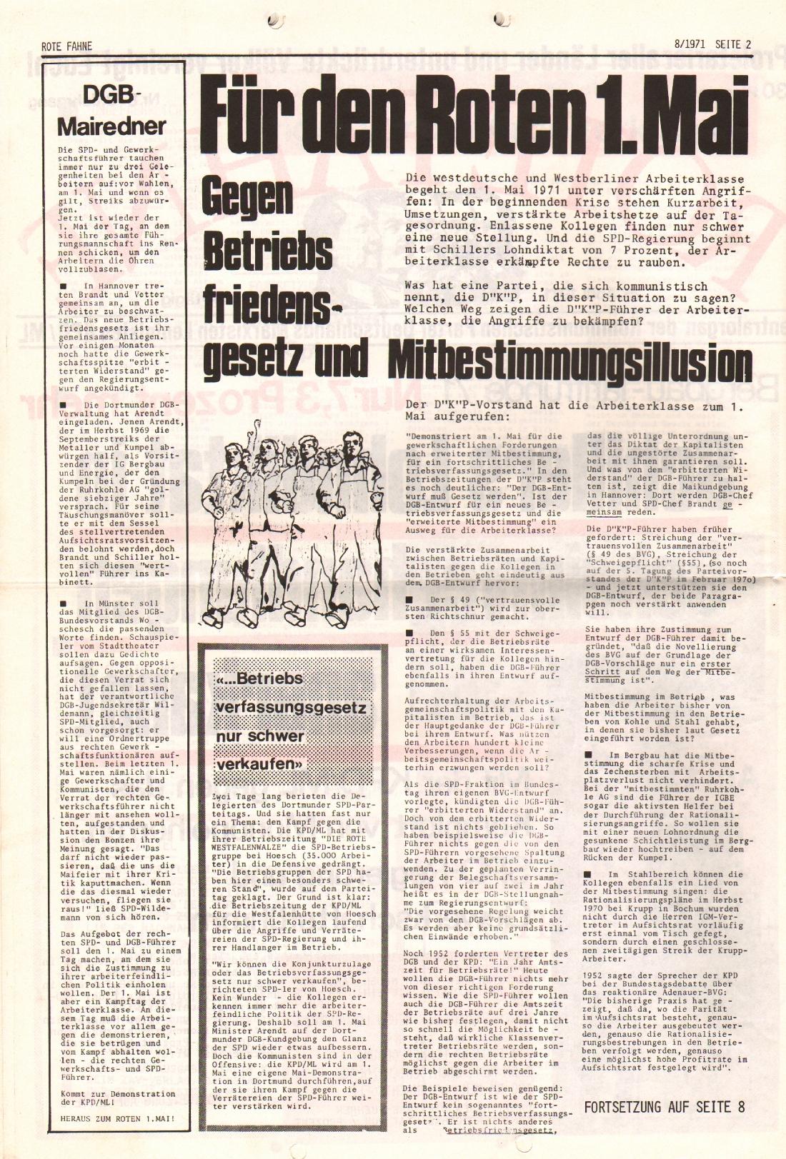 Rote Fahne, 2. Jg., 26.4.1971, Nr. 8, Seite 2
