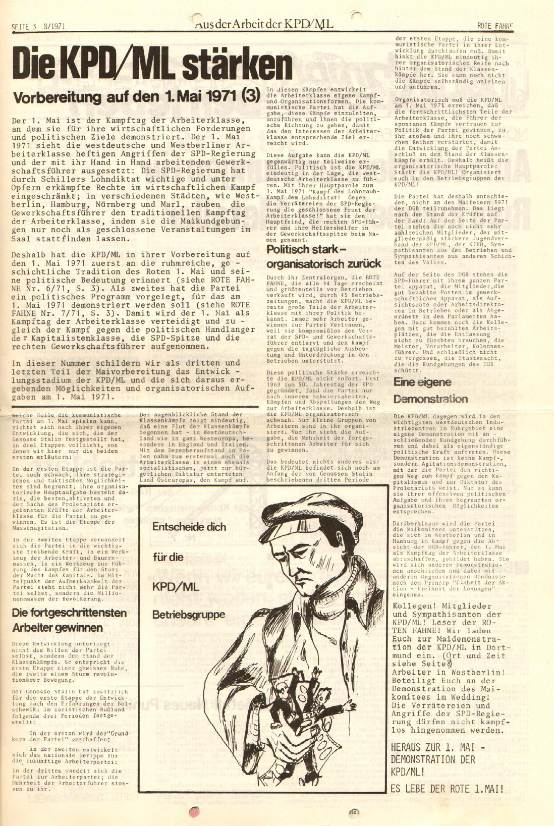 Rote Fahne, 2. Jg., 26.4.1971, Nr. 8, Seite 3