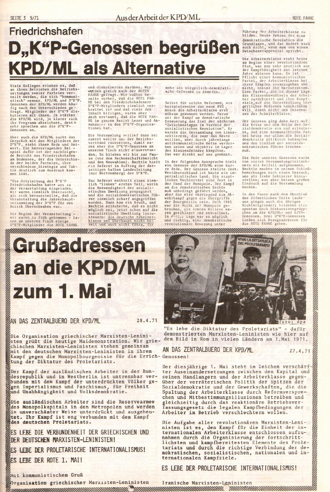 Rote Fahne, 2. Jg., 10.5.1971, Nr. 9, Seite 3